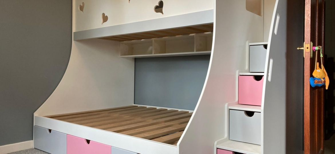 bunk with steps